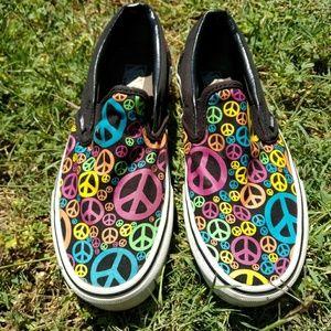 Vans Unisex Peace Sign Slip On Shoes